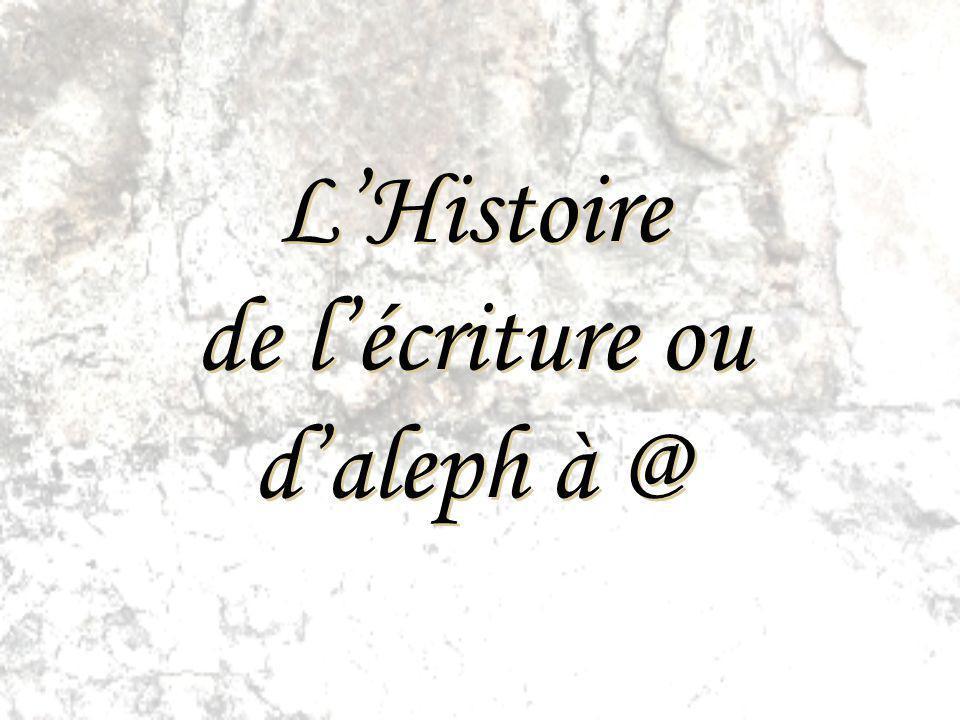 L'Histoire de l'écriture ou d'aleph à @