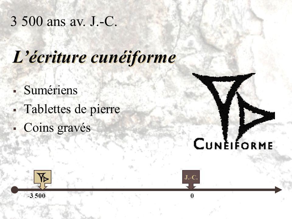 L'écriture cunéiforme