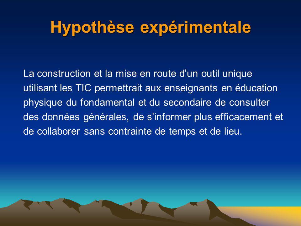 Hypothèse expérimentale