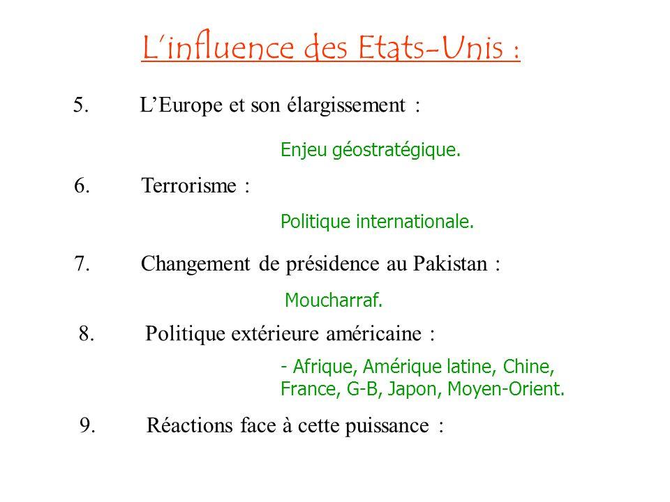 L'influence des Etats-Unis :