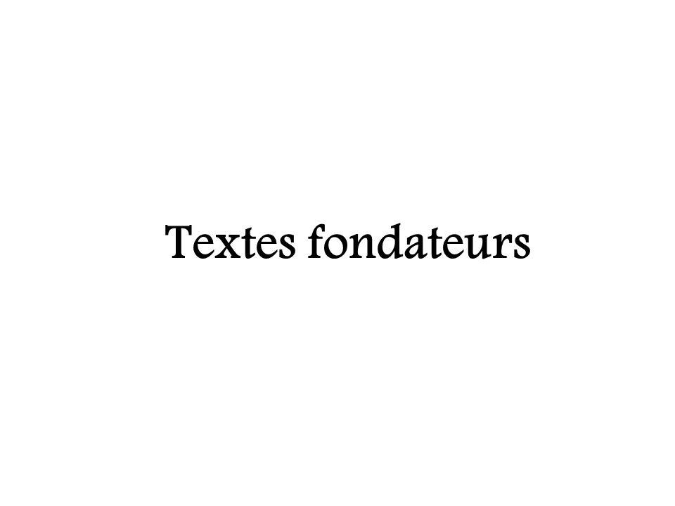 Textes fondateurs