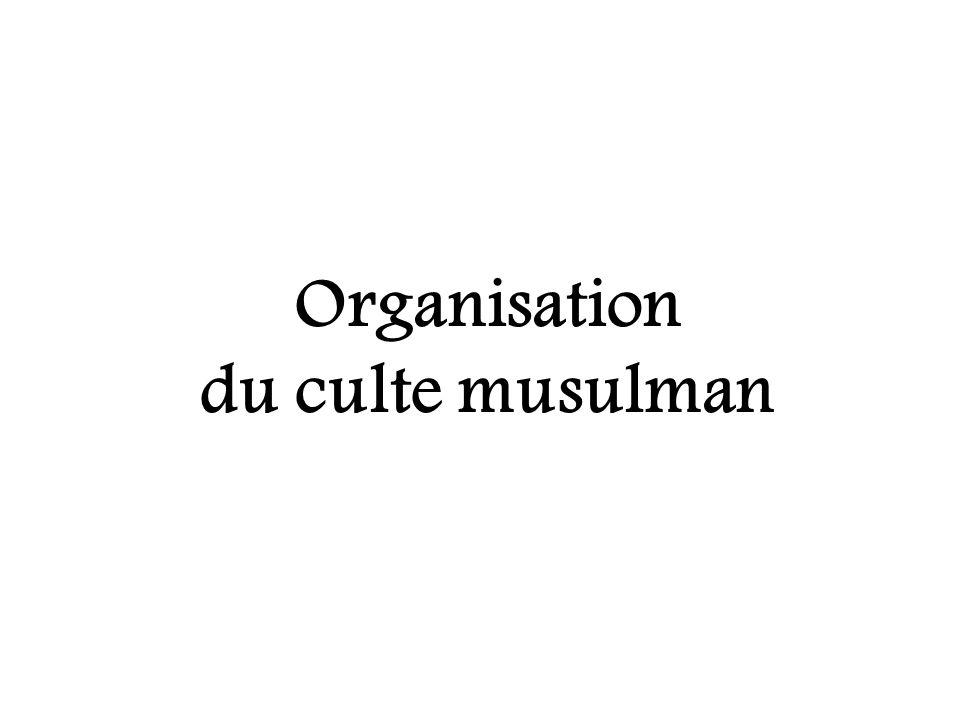 Organisation du culte musulman