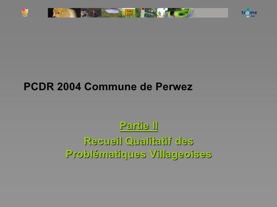Partie II Recueil Qualitatif des Problématiques Villageoises