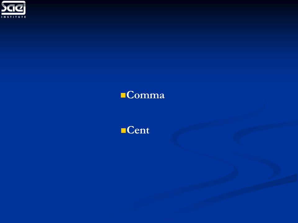 Comma Cent