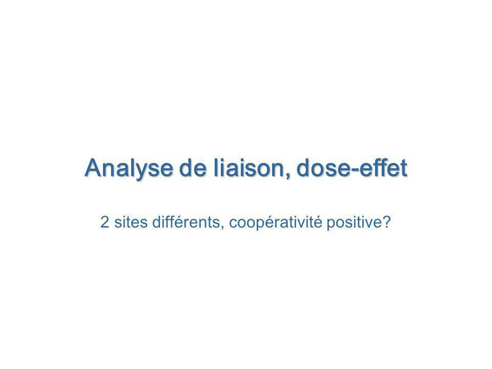 Analyse de liaison, dose-effet