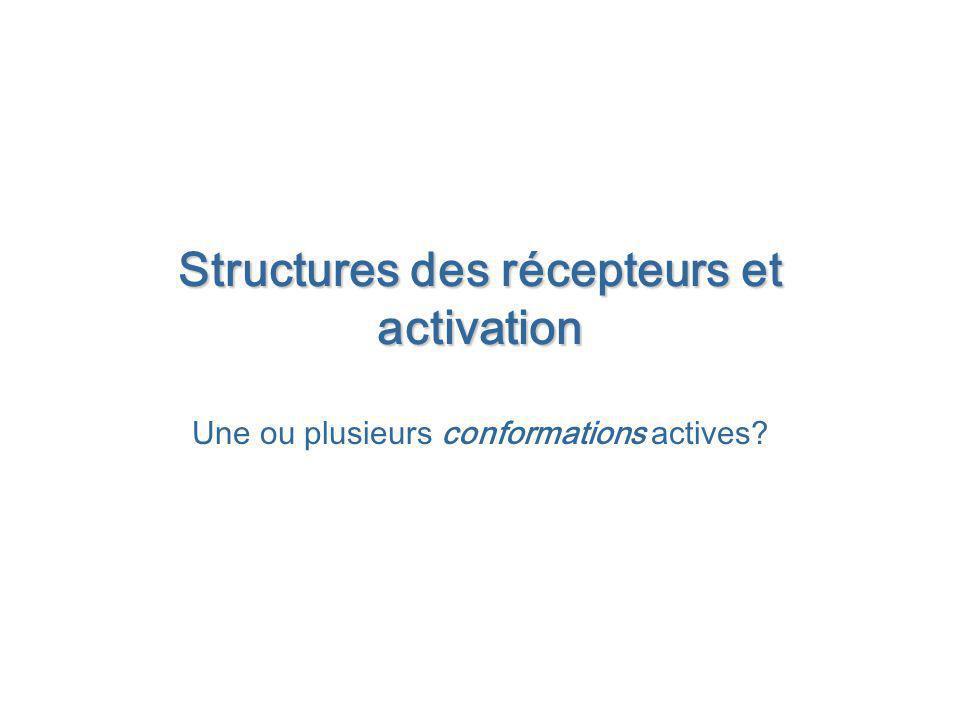 Structures des récepteurs et activation
