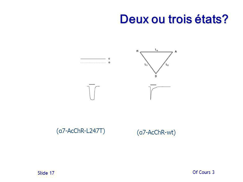 Deux ou trois états (α7-AcChR-L247T) (α7-AcChR-wt) Of Cours 3