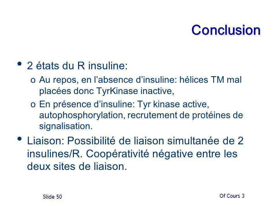 Conclusion 2 états du R insuline: