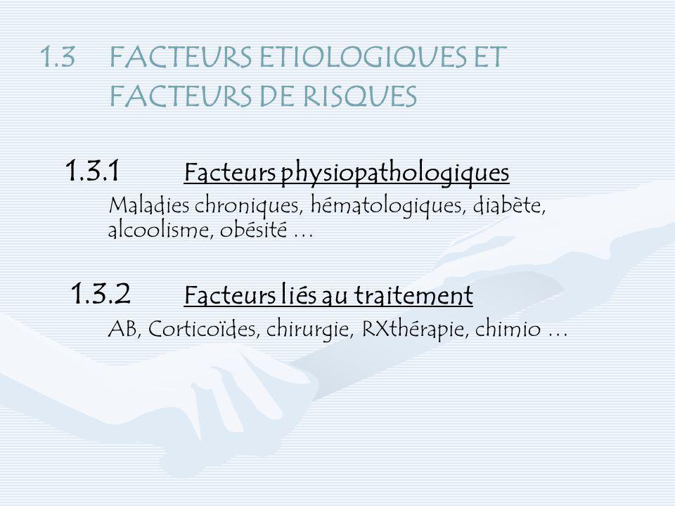 1.3 FACTEURS ETIOLOGIQUES ET FACTEURS DE RISQUES