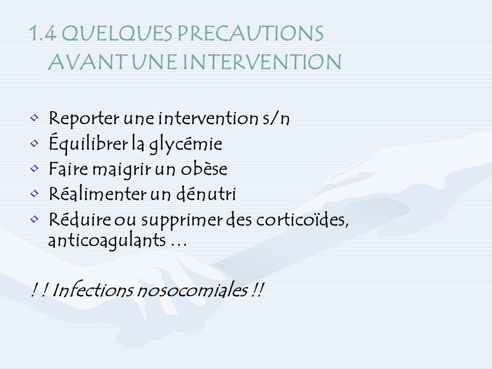 AVANT UNE INTERVENTION