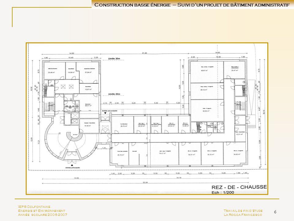 Construction basse énergie – Suivi d'un projet de bâtiment administratif
