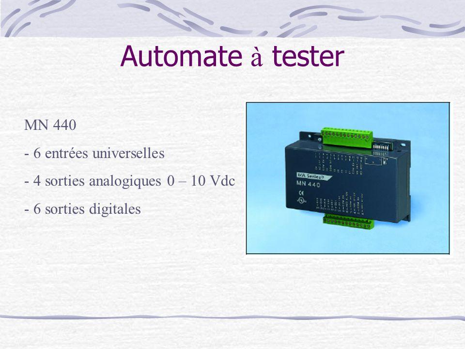 Automate à tester MN 440 6 entrées universelles