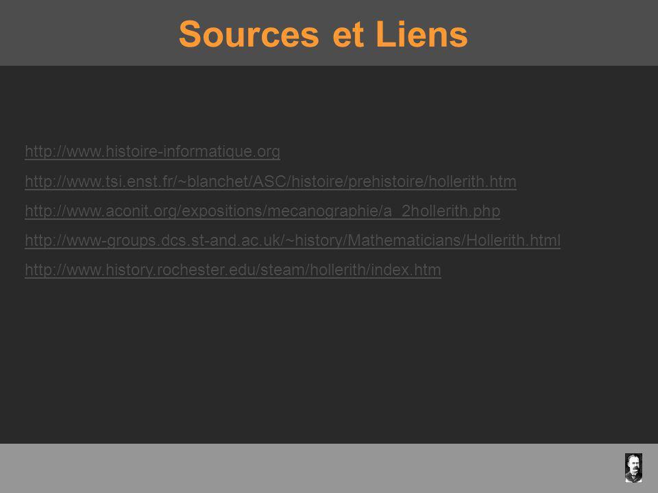 Sources et Liens http://www.histoire-informatique.org