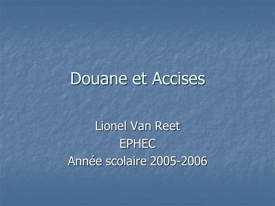 Lionel Van Reet EPHEC Année scolaire 2005-2006