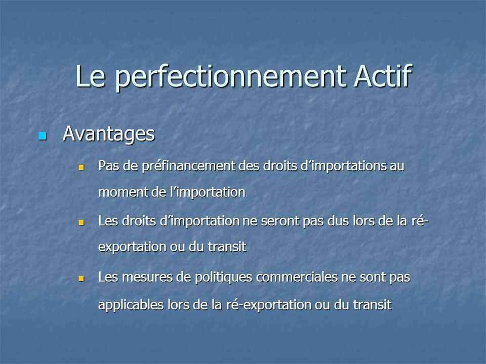 Le perfectionnement Actif