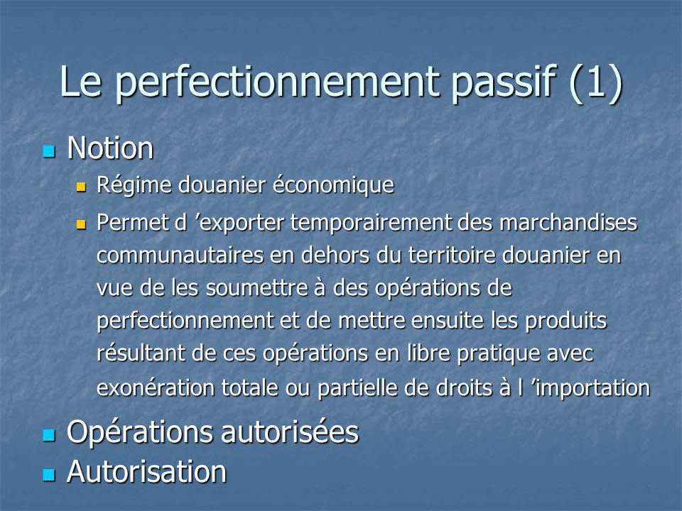 Le perfectionnement passif (1)