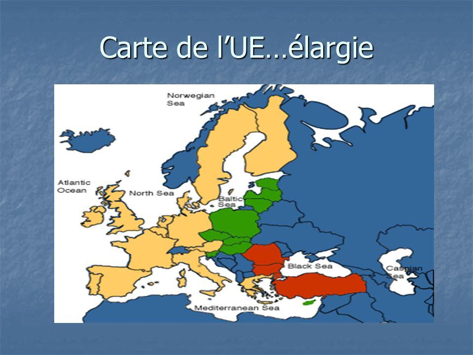 Carte de l'UE…élargie