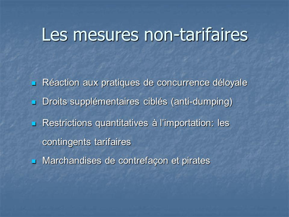 Les mesures non-tarifaires