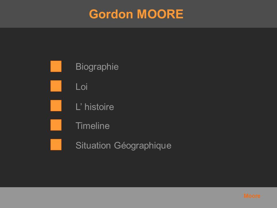 Gordon MOORE Biographie Loi L' histoire Timeline