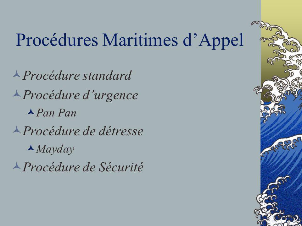 Procédures Maritimes d'Appel