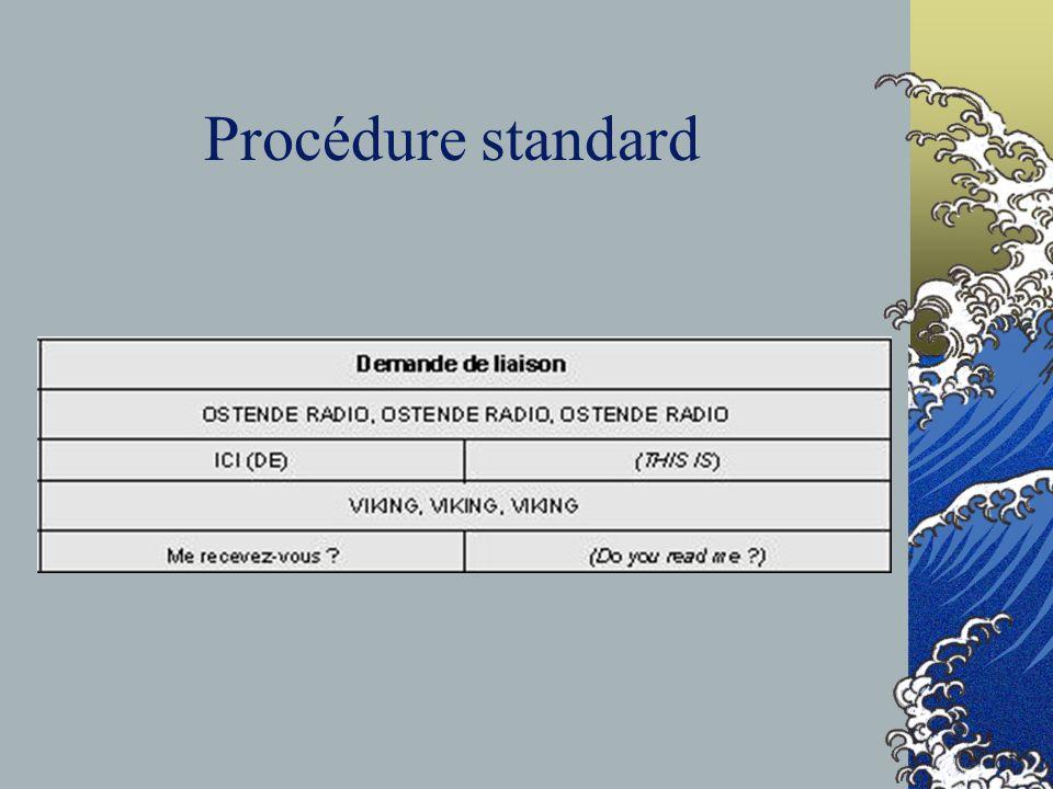Procédure standard