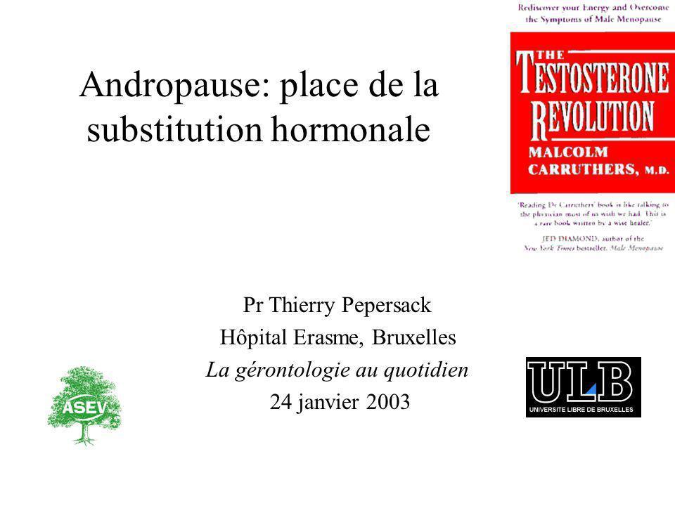 Andropause: place de la substitution hormonale