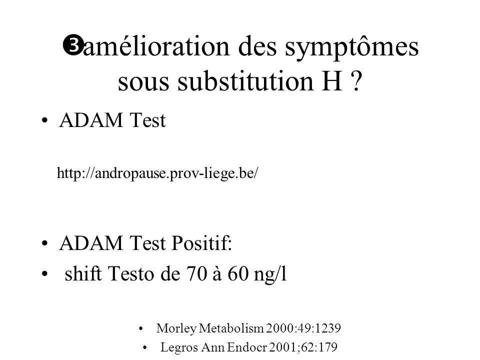 amélioration des symptômes sous substitution H