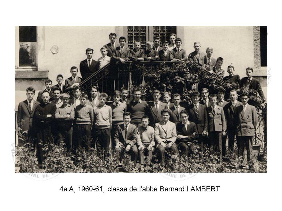 4e A, 1960-61, classe de l abbé Bernard LAMBERT