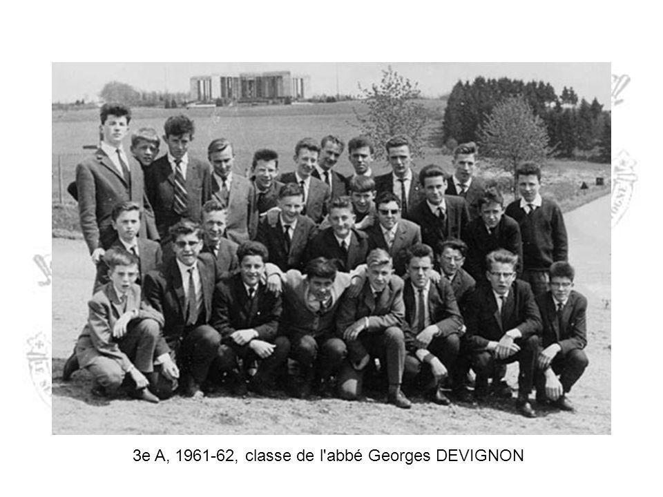 3e A, 1961-62, classe de l abbé Georges DEVIGNON