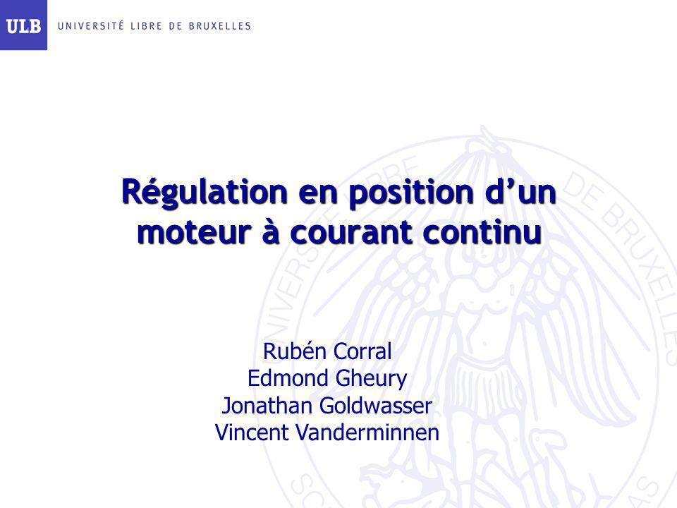 Régulation en position d'un moteur à courant continu