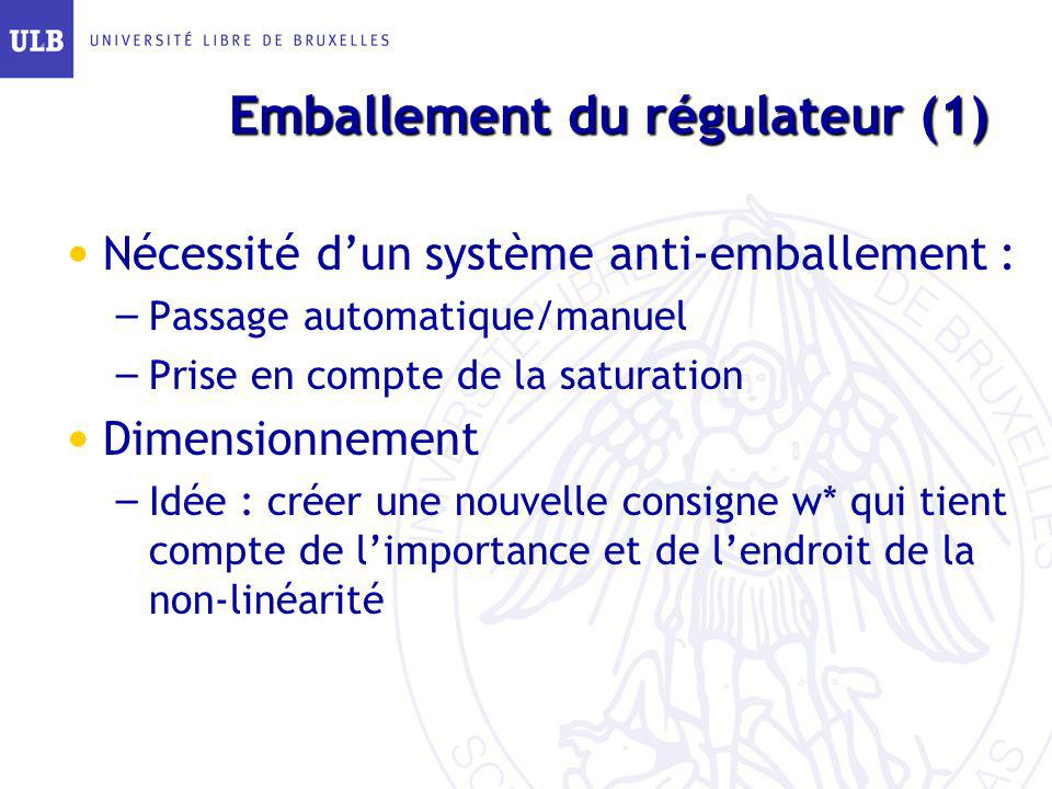Emballement du régulateur (1)