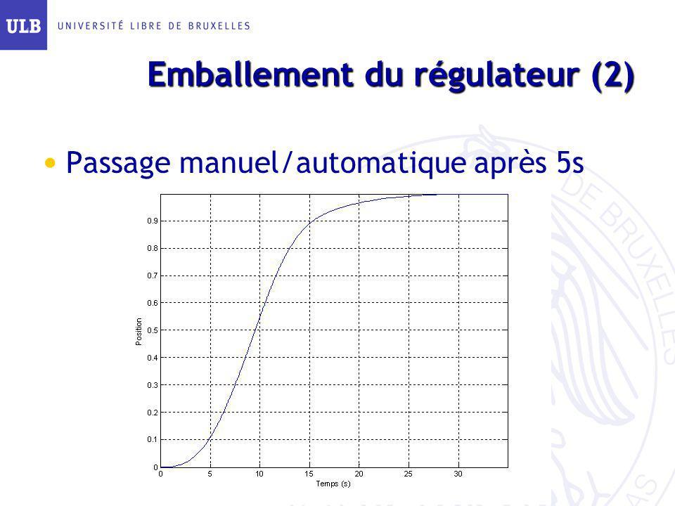 Emballement du régulateur (2)