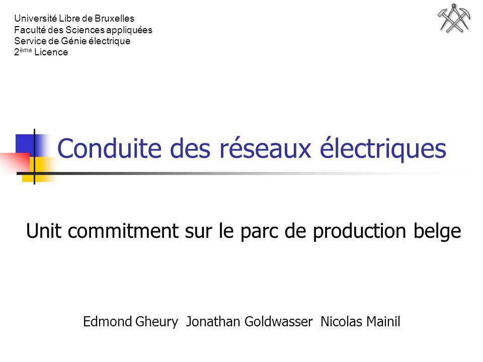 Conduite des réseaux électriques