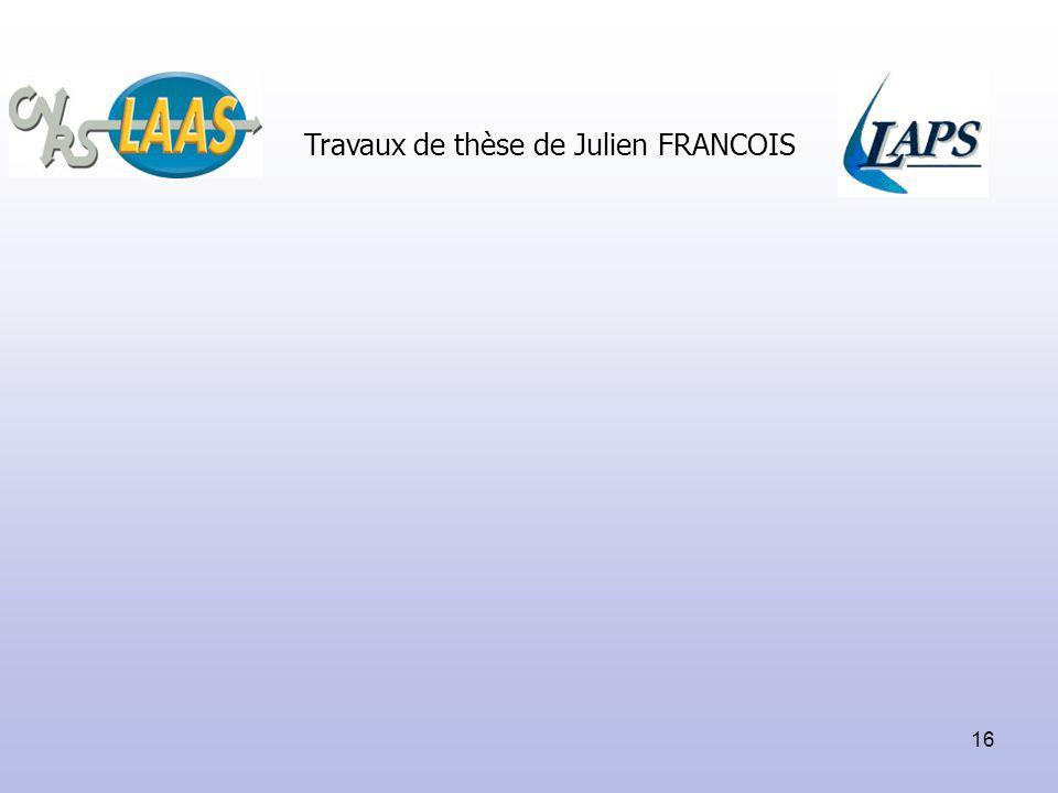 Travaux de thèse de Julien FRANCOIS