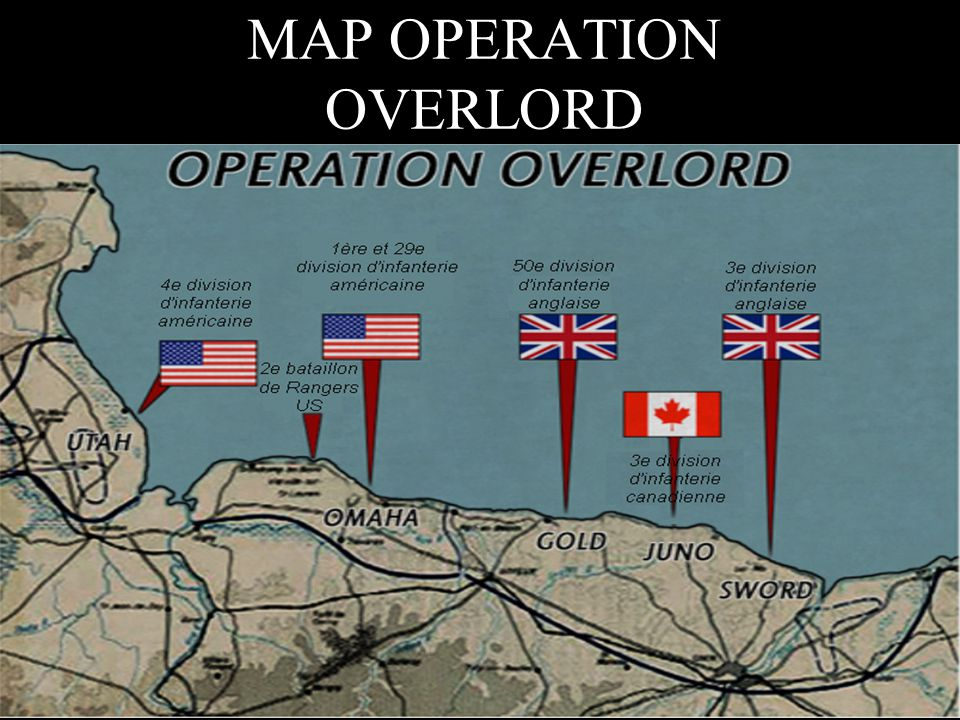 MAP OPERATION OVERLORD