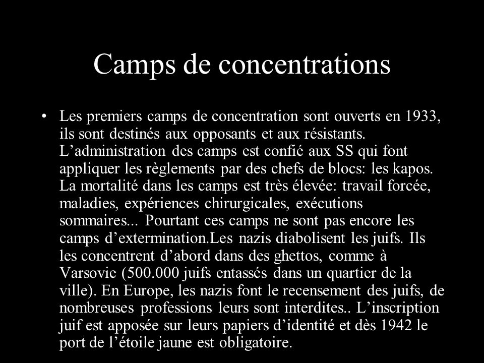 Camps de concentrations