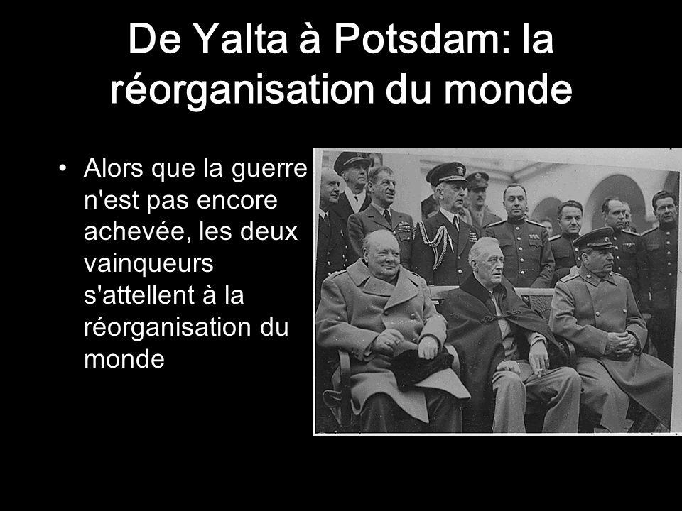 De Yalta à Potsdam: la réorganisation du monde