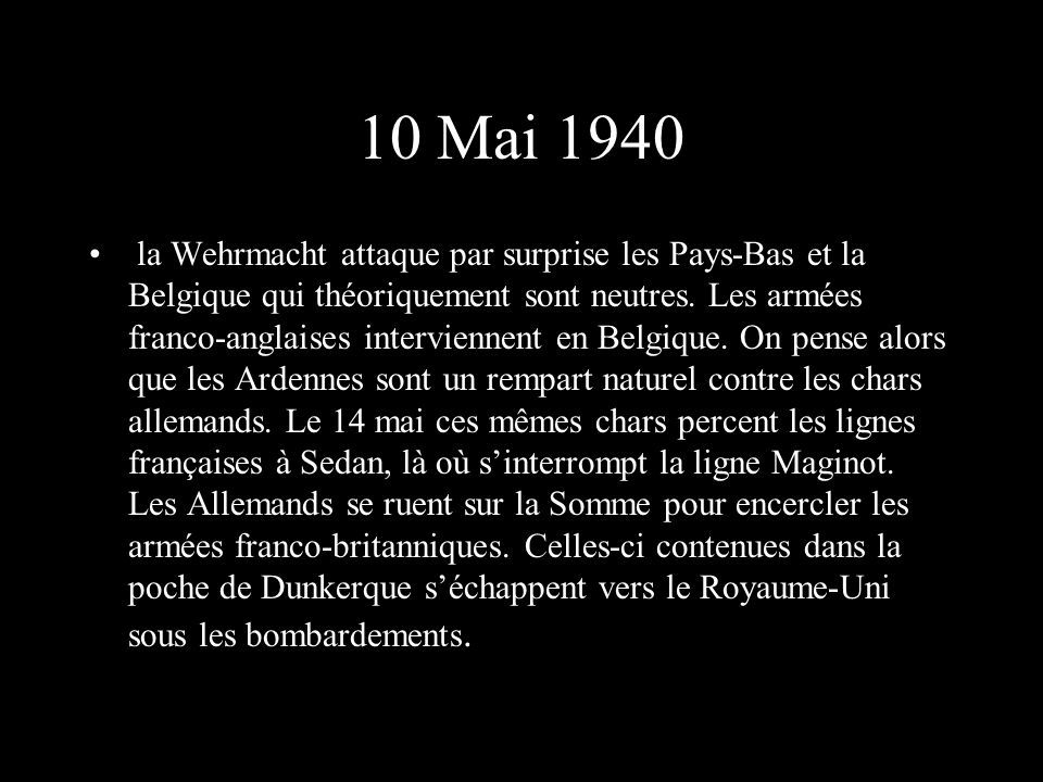 10 Mai 1940