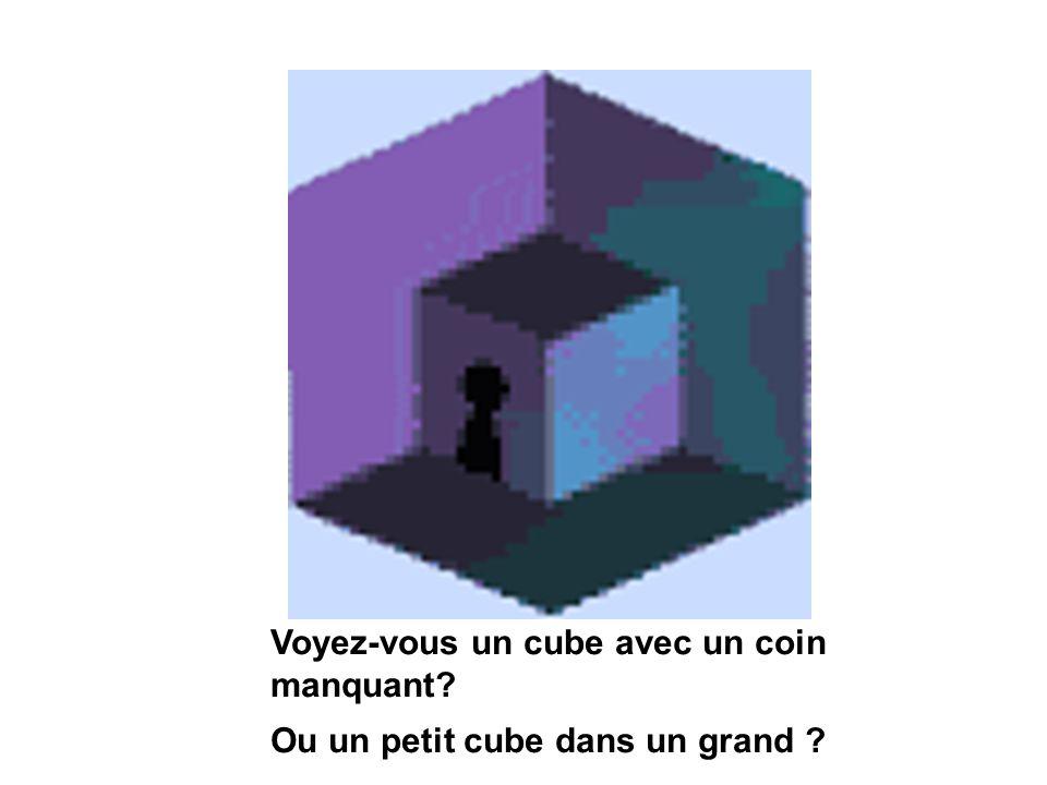 Voyez-vous un cube avec un coin manquant