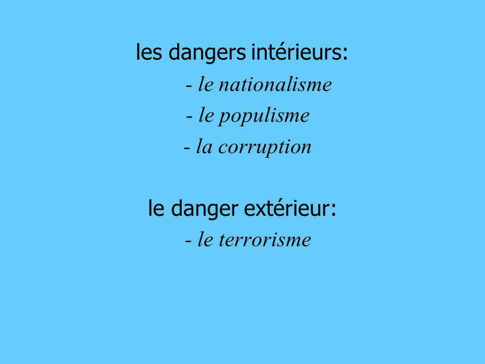 les dangers intérieurs: