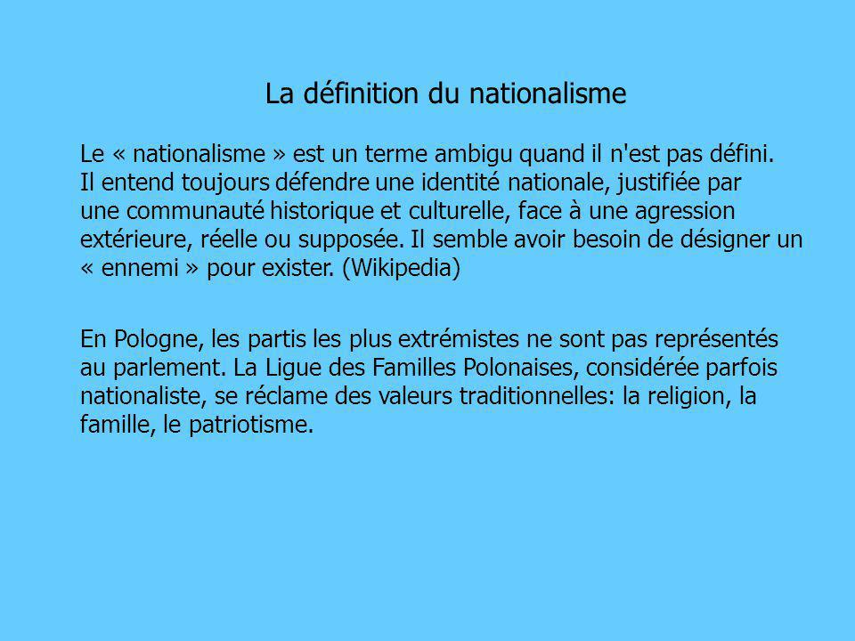 La définition du nationalisme