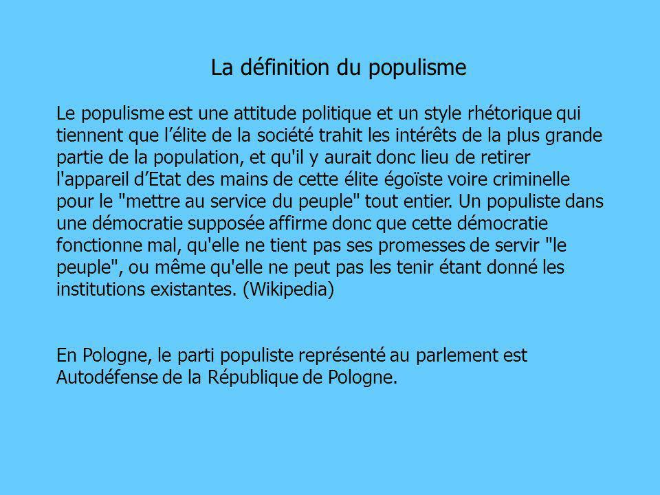 La définition du populisme