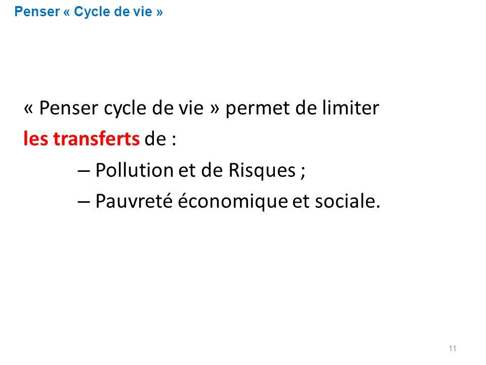 « Penser cycle de vie » permet de limiter les transferts de :