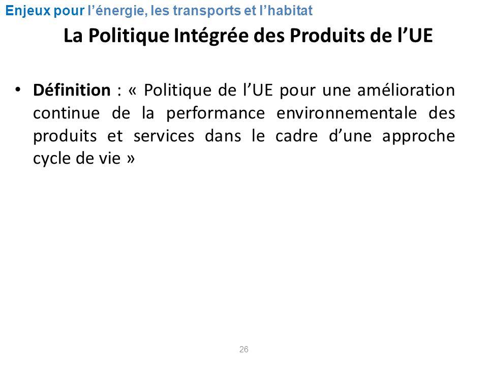 La Politique Intégrée des Produits de l'UE