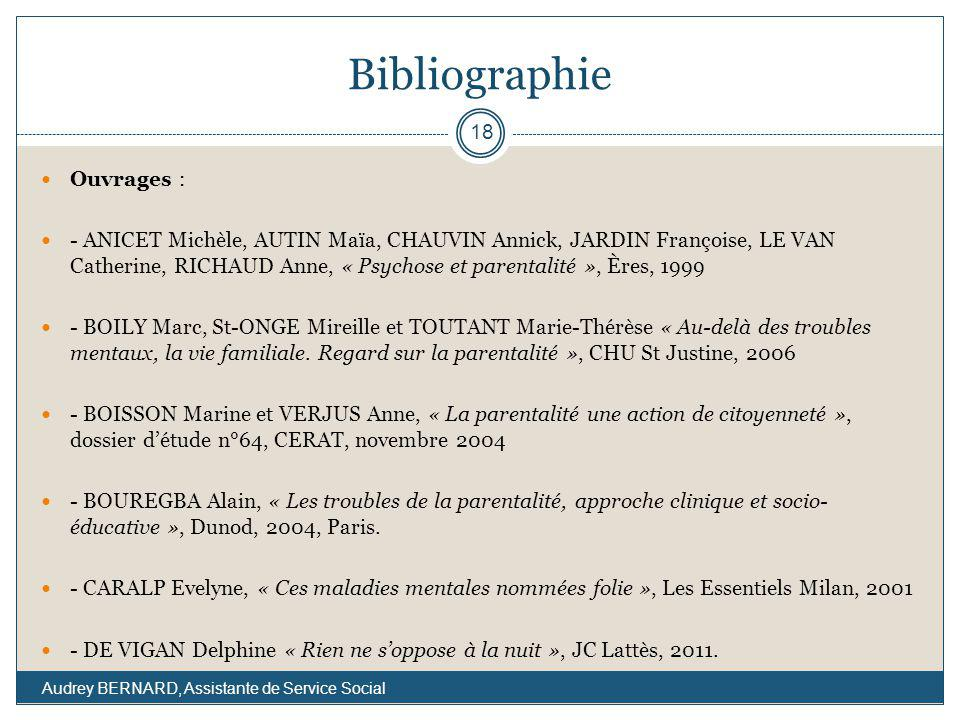 Bibliographie Ouvrages :