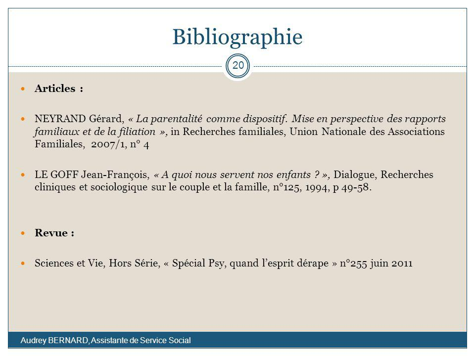 Bibliographie Articles :