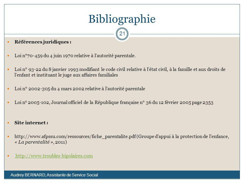 Bibliographie Références juridiques :