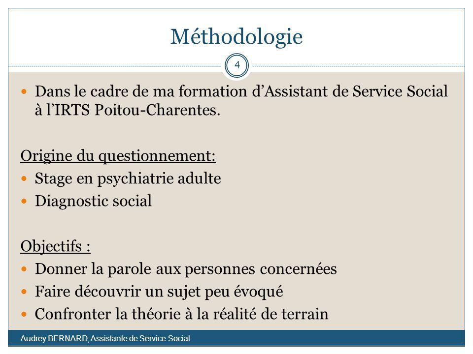 Méthodologie Dans le cadre de ma formation d'Assistant de Service Social à l'IRTS Poitou-Charentes.