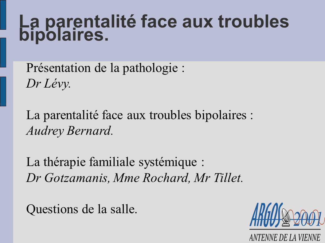 La parentalité face aux troubles bipolaires.