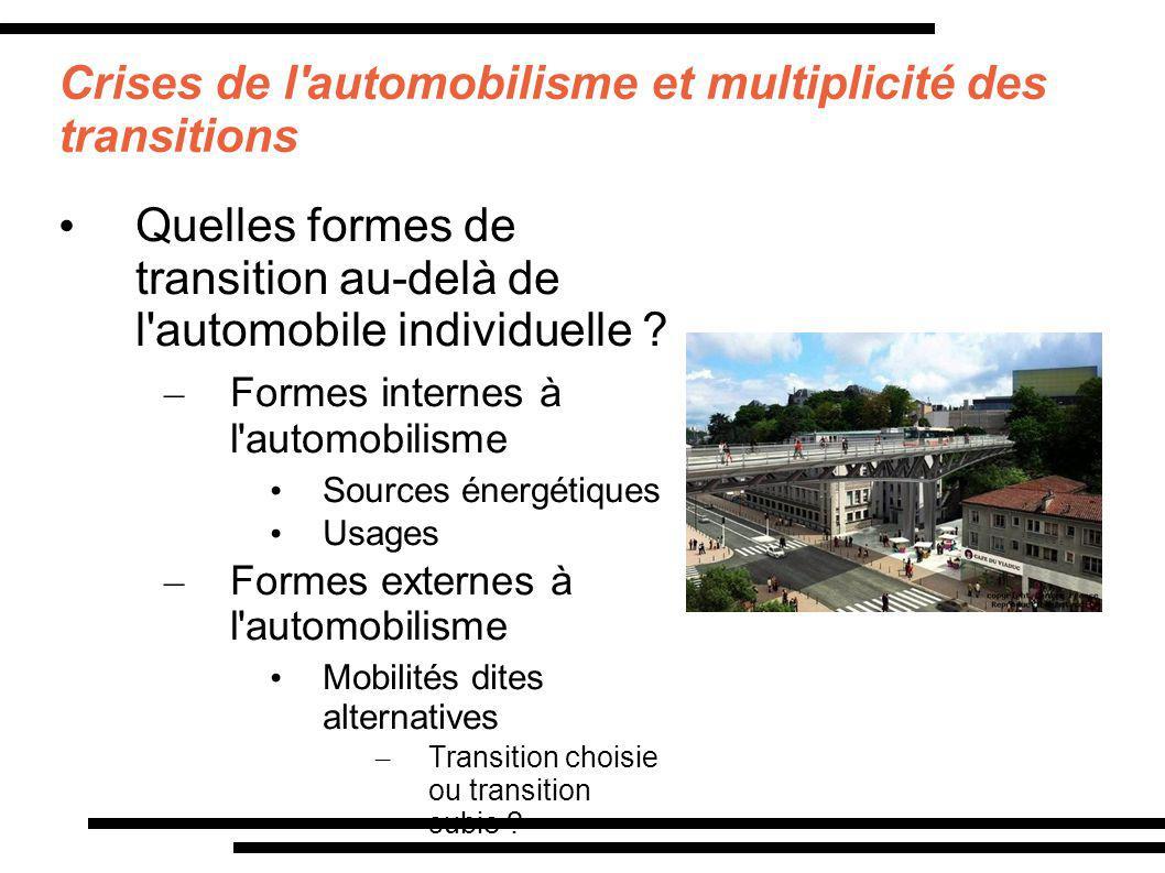 Crises de l automobilisme et multiplicité des transitions
